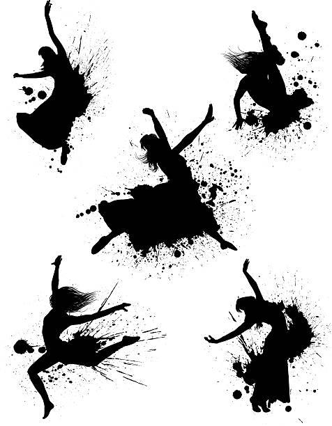 Tancerz Splatters – artystyczna grafika wektorowa