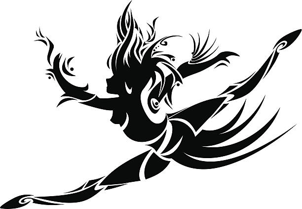tänzer - spagat stock-grafiken, -clipart, -cartoons und -symbole