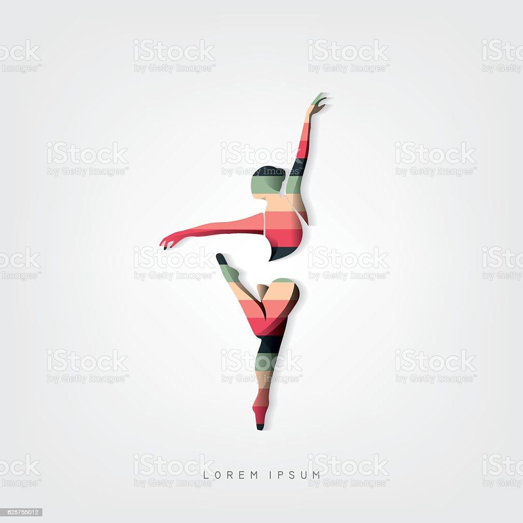 Dancer vector illustration - ilustración de arte vectorial