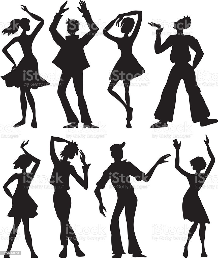 Dancers royalty-free stock vector art