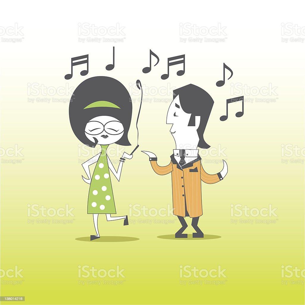 Dancin coppia di 60 s Style - illustrazione arte vettoriale