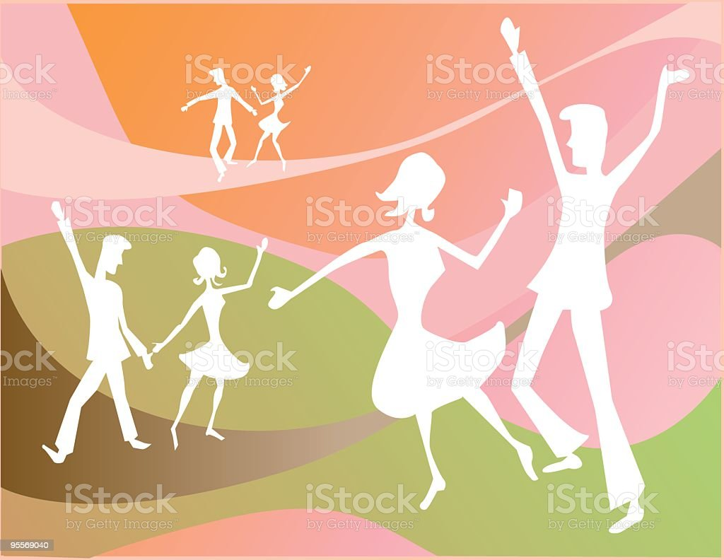 Dancing at the Hop royalty-free stock vector art