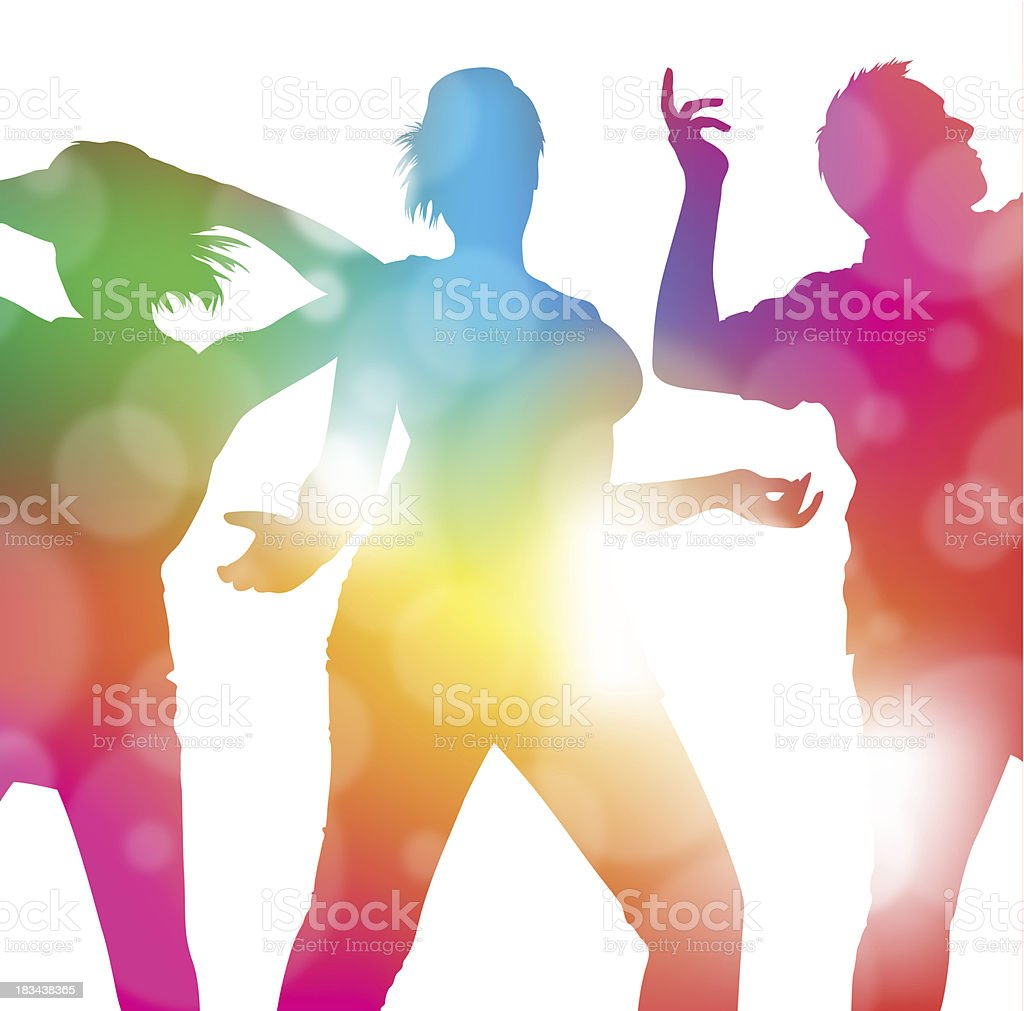 Dancing at the Summer Festival. royalty-free dancing at the summer festival stock vector art & more images of adolescence