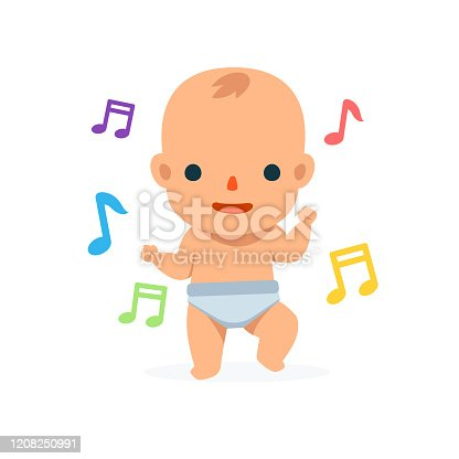 istock A Dancing Baby. Isolated Vector Illustration 1208250991