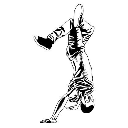 Dancing b-boy