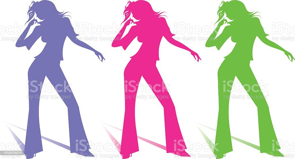 dancing chic silhouette royalty-free stock vector art