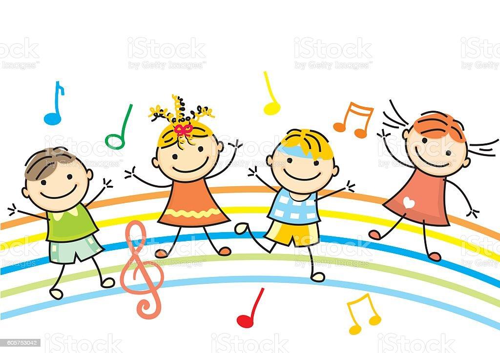 Children Reading Stock Vector Art More Images Of Baby: Dancing Children Vector Icon Stock Vector Art & More