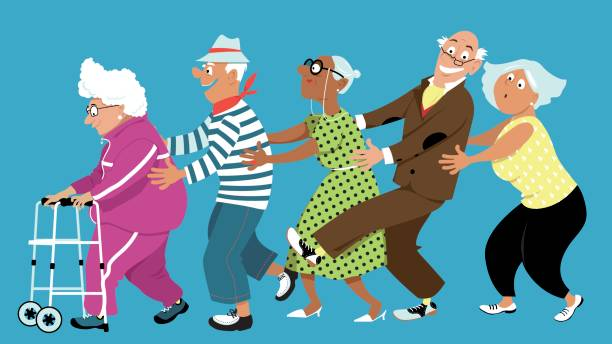 Dancing conga vector art illustration