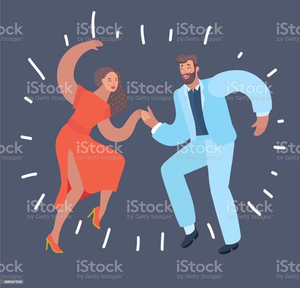 Tanzpaar Auf Dunklem Hintergrund Stock Vektor Art und mehr Bilder ...