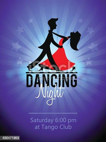 istock Dancing Couple. Club flyer 530471953