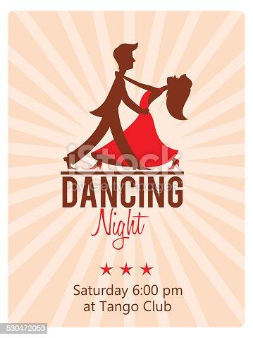 istock Dancing Couple. Club flyer 530472053