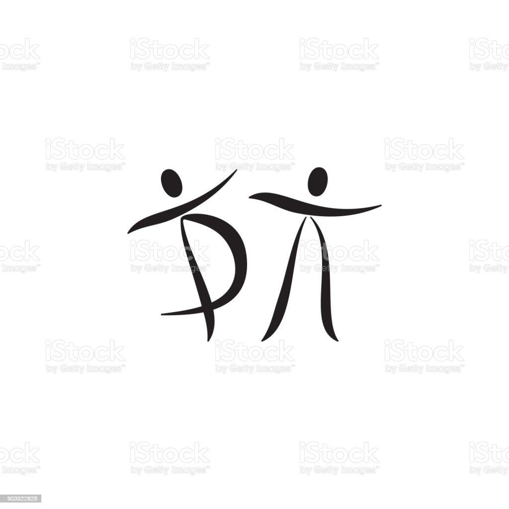 dancing couple icon dance elements premium quality graphic design