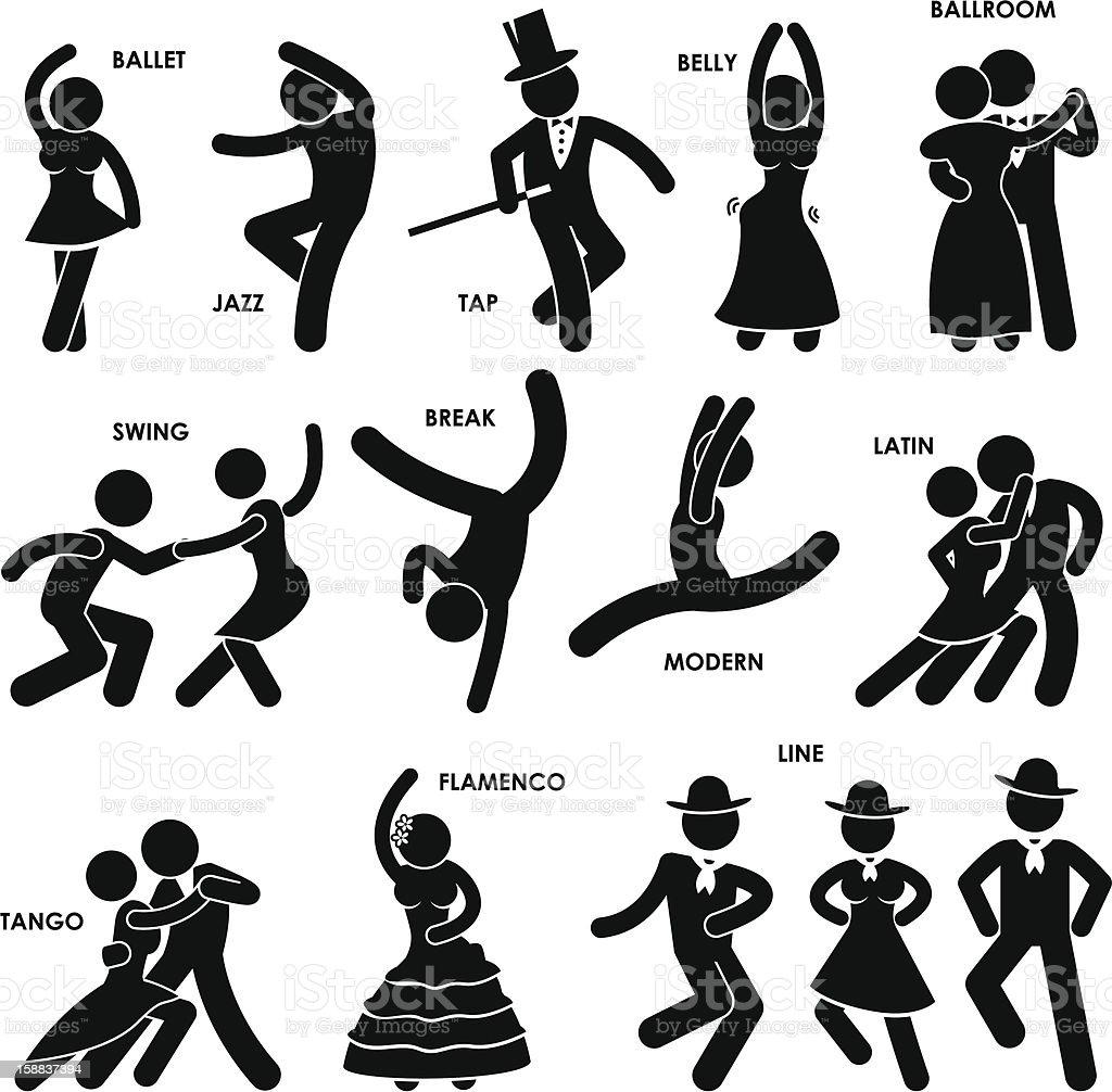 Dancing Dancer Pictogram vector art illustration