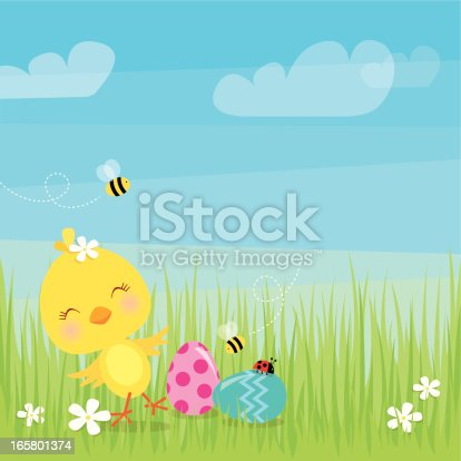 istock Dancing Easter chick 165801374