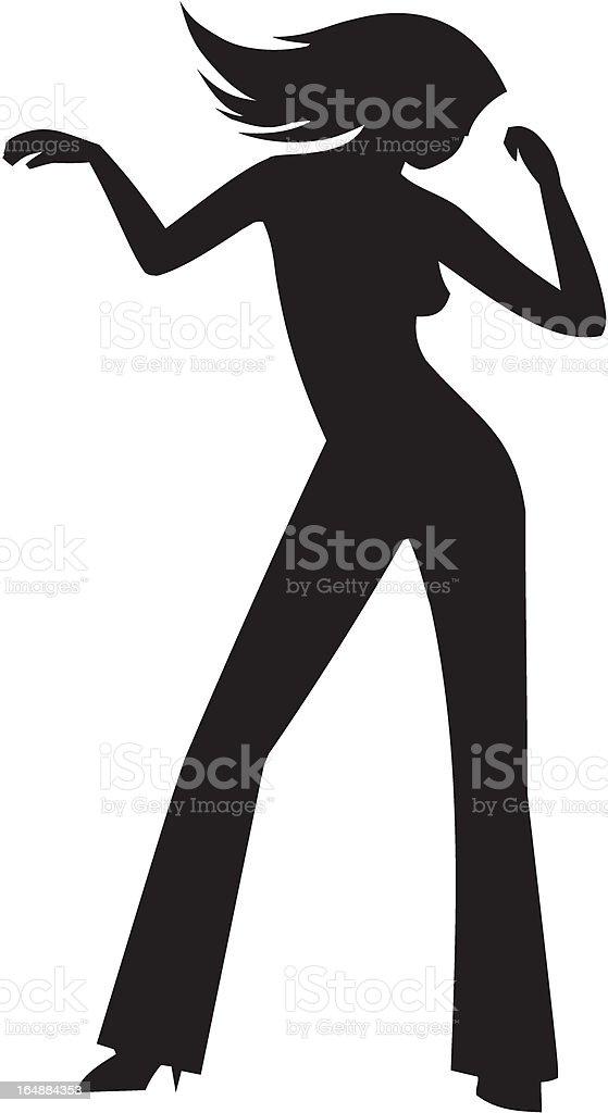 dancing girl silhouette royalty free stock vector art