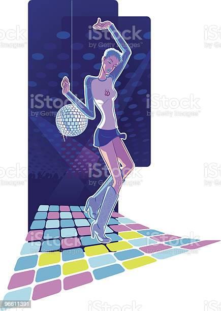 Dancing Girl-vektorgrafik och fler bilder på Avkopplingsaktivitet