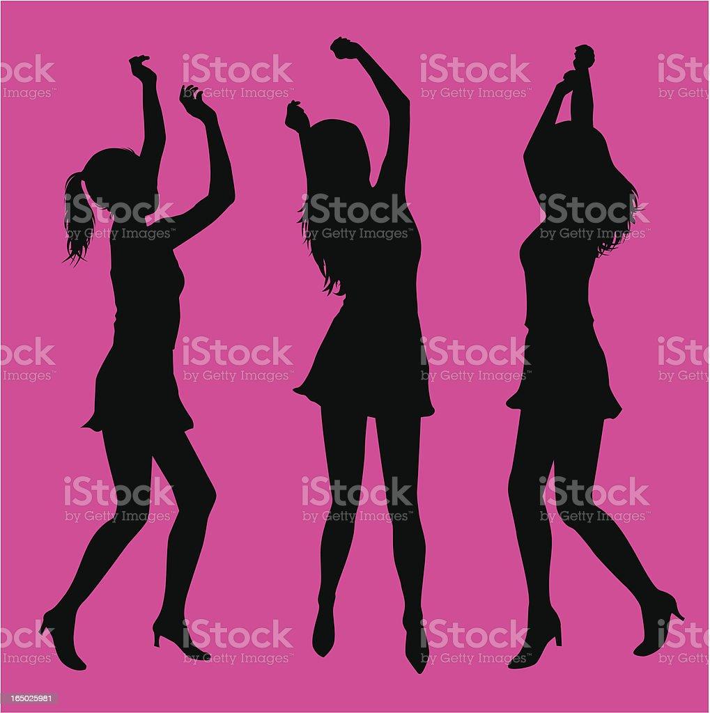 Dancing Girls ( Vector ) royalty-free stock vector art