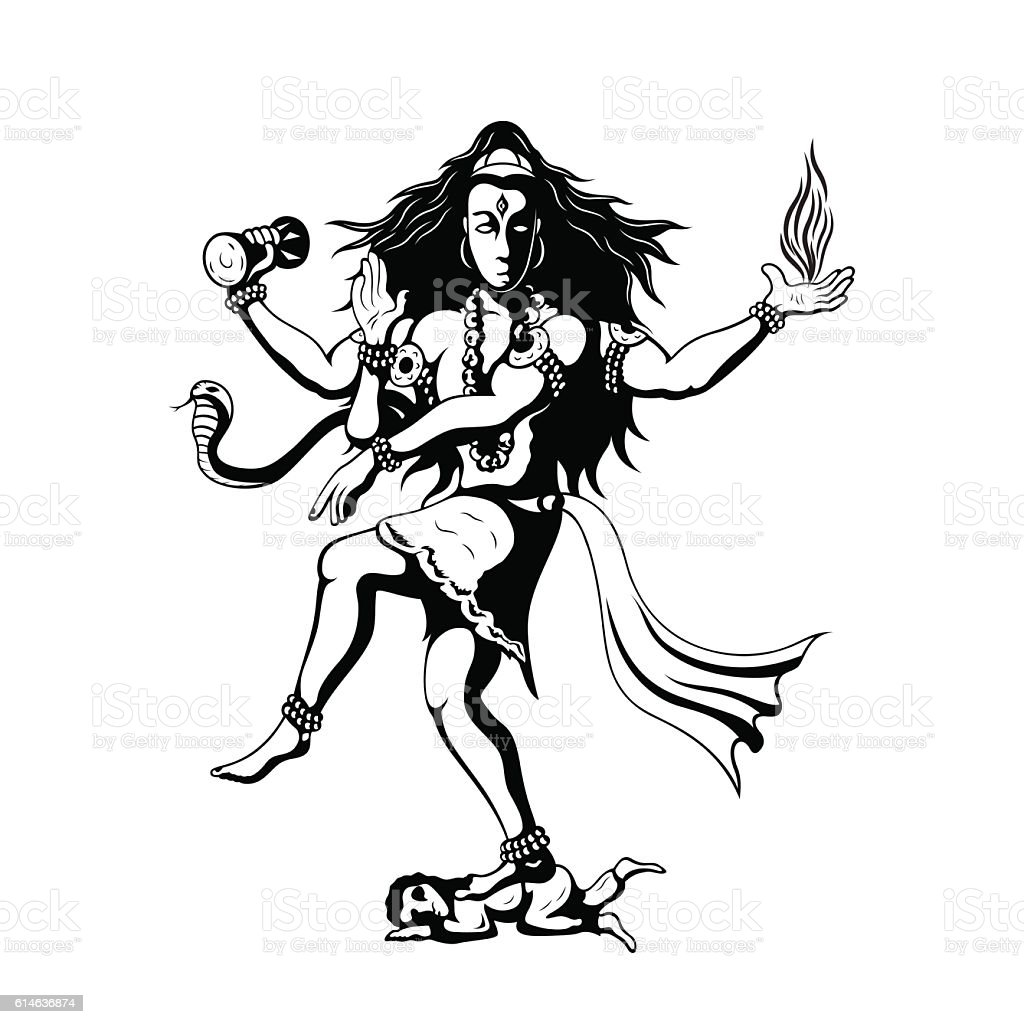 Dancing god shiva stock illustration download image now