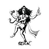 dancing God Shiva