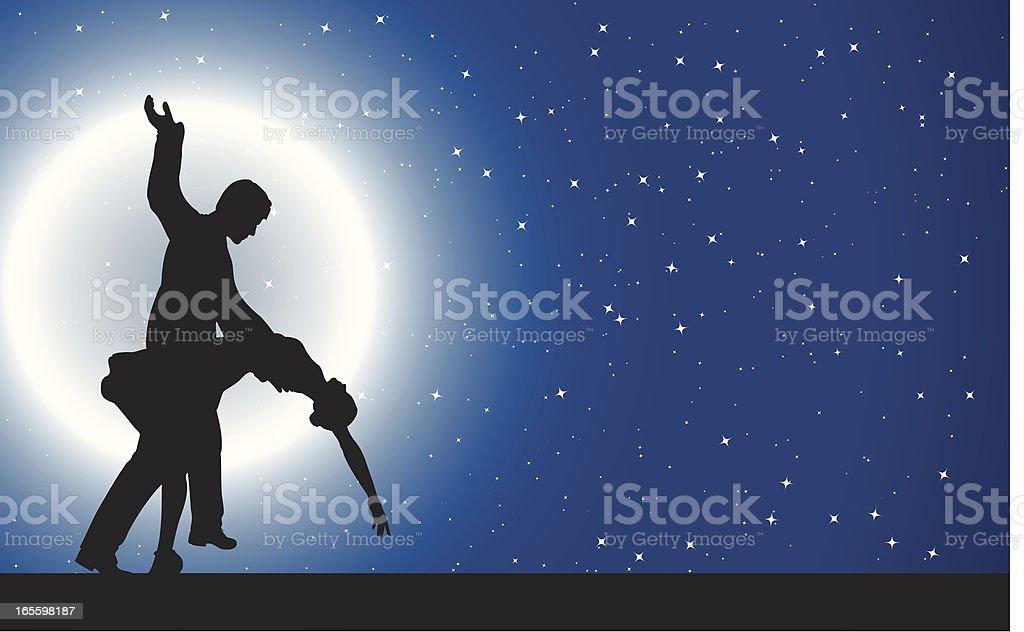 Dança do luar ilustração de dança do luar e mais banco de imagens de adulto royalty-free