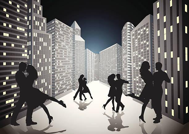 bildbanksillustrationer, clip art samt tecknat material och ikoner med dancing in the streets. - street dance