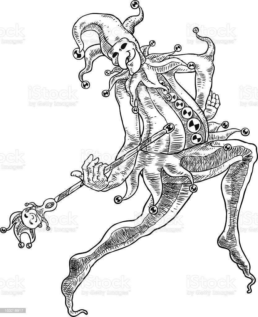 Danse bouffon - Illustration vectorielle