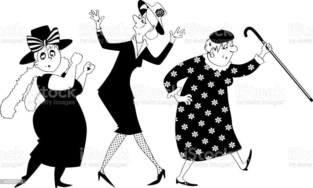 dancing ladies clipart stock vector art more images of activity rh istockphoto com clipart ladies luncheon clipart ladies luncheon