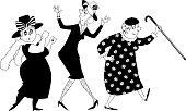 Dancing ladies clip-art