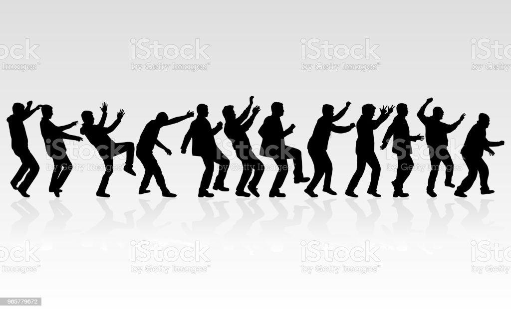 Dansende mensen silhouetten. Vector werk. - Royalty-free Canada vectorkunst
