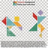 Dancing people tangram
