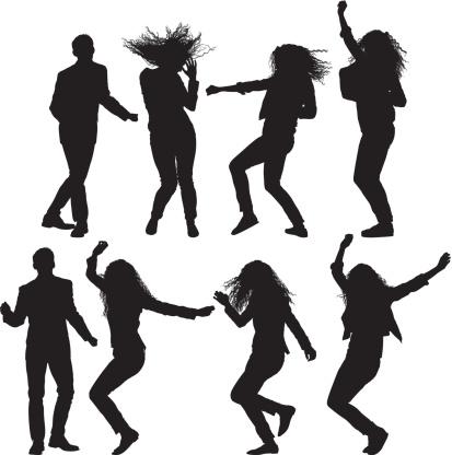 Dancing people clipart