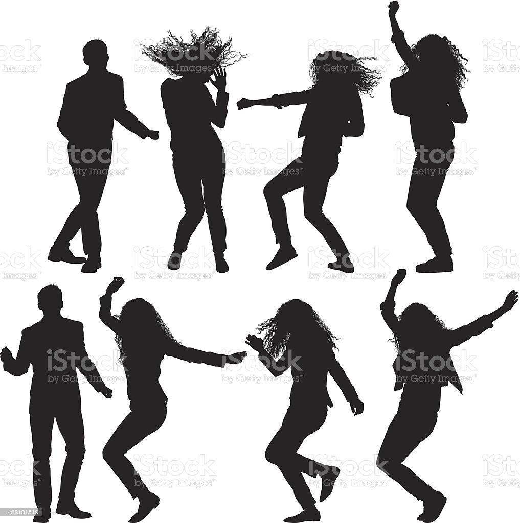 Baile de personas - ilustración de arte vectorial
