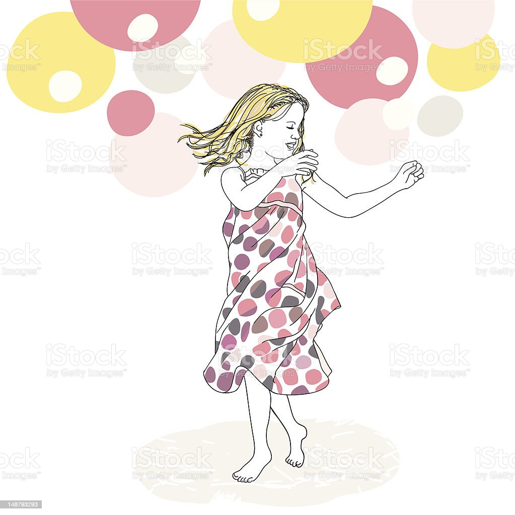 Dancing Queen vector art illustration