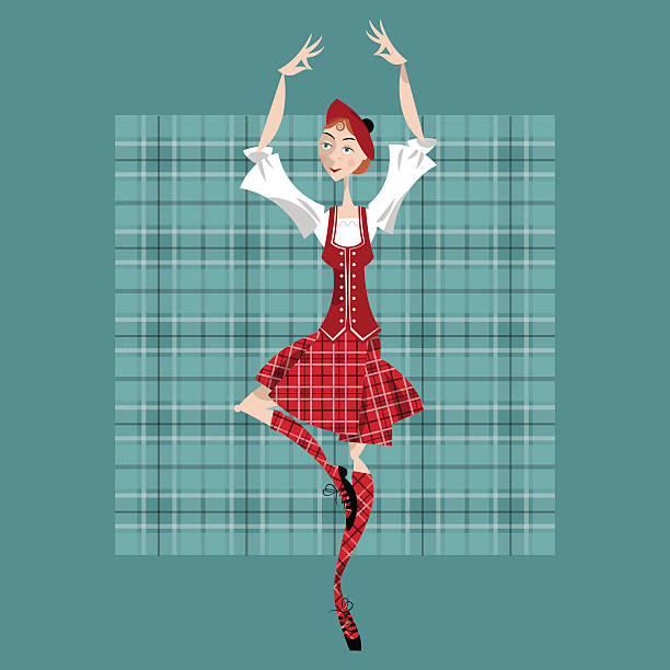 Royalty Free Highland Dance Clip Art, Vector Images ...