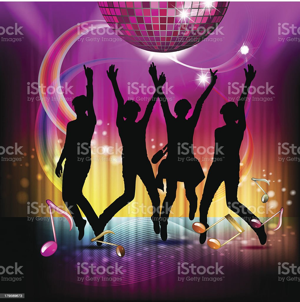 Dancing silhouettes royalty-free dancing silhouettes stock vector art & more images of colors