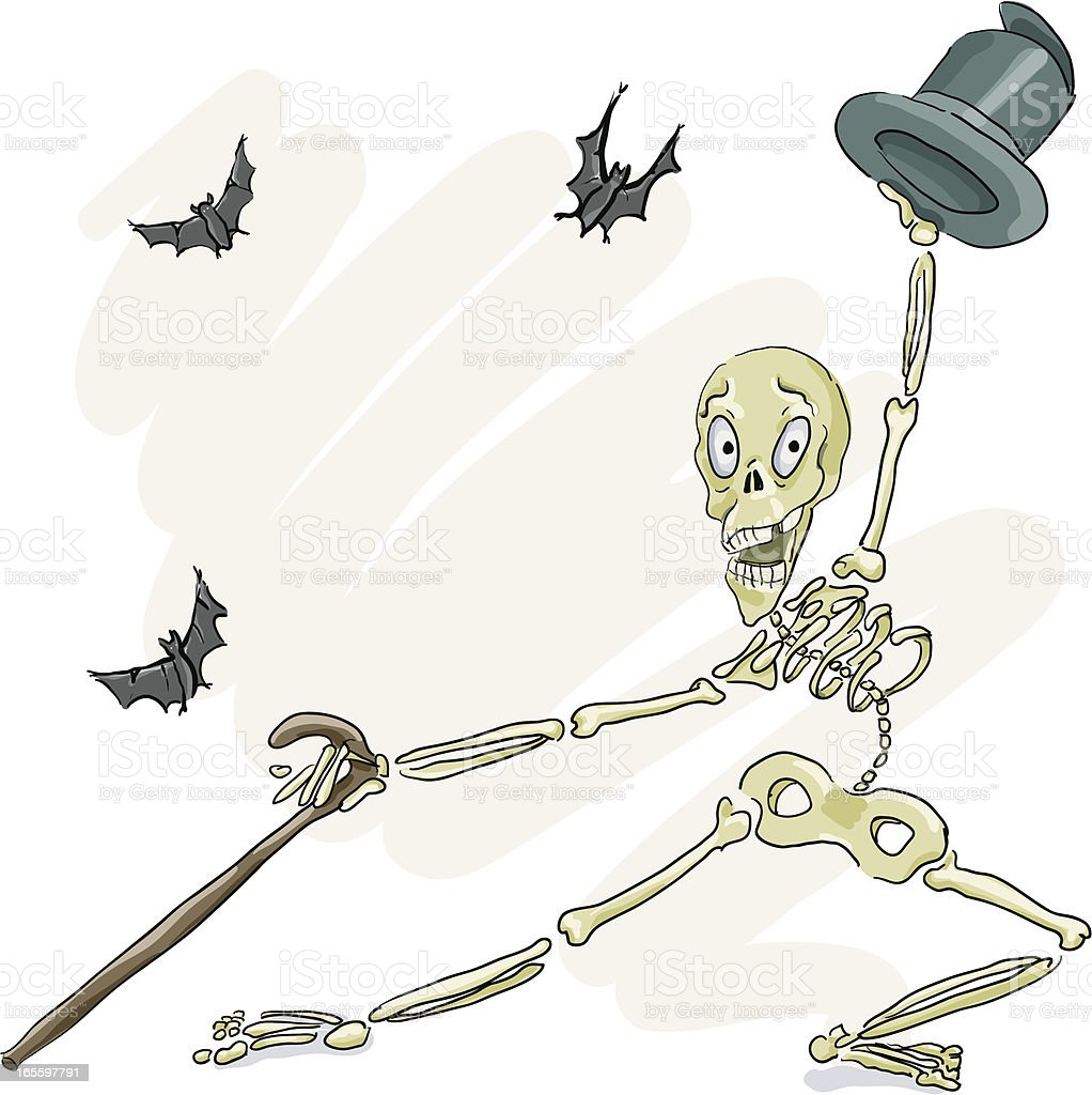 Dancing Skeleton royalty-free dancing skeleton stock vector art & more images of bat - animal