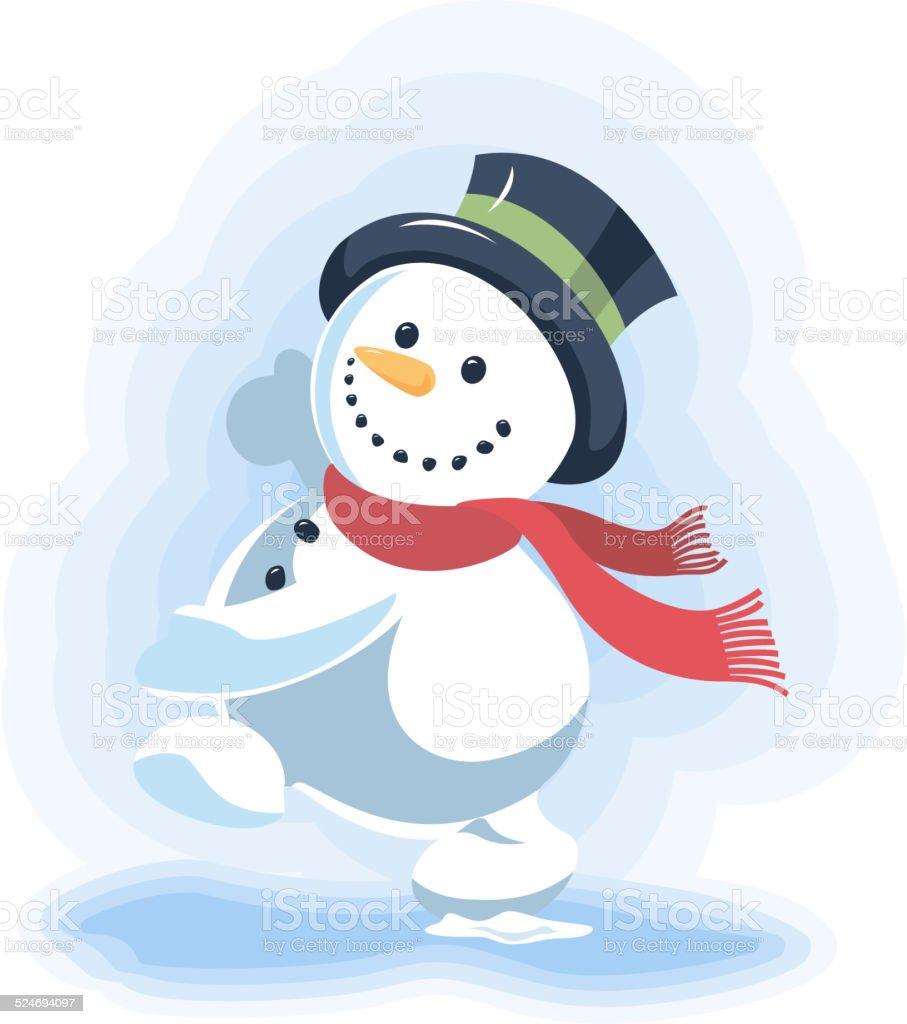 pretty nice 979e1 097f3 Dancing Snowman Stock Illustration - Download Image Now - iStock