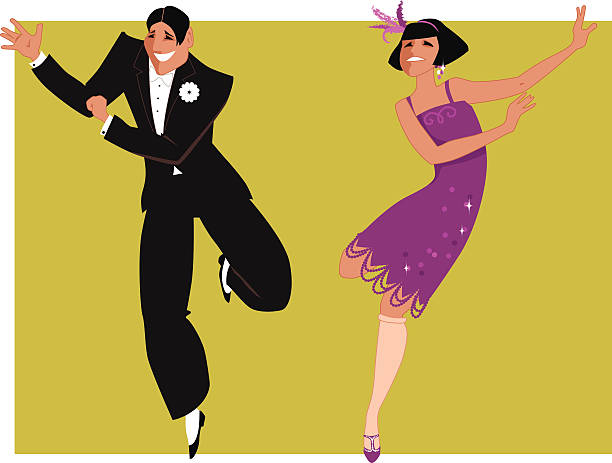 Best The Charleston Dance Illustrations Royalty Free
