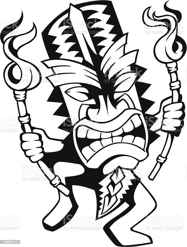 Dancing Tiki Stock Vector Art Amp More Images Of Cartoon