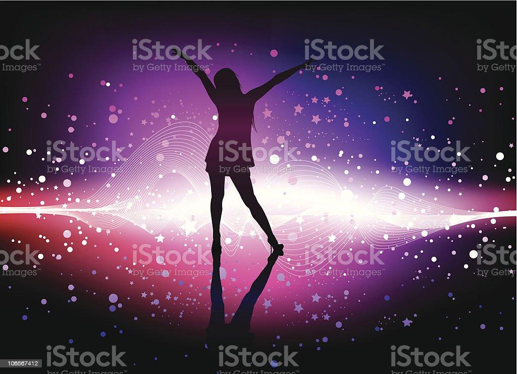 dancing time vector art illustration