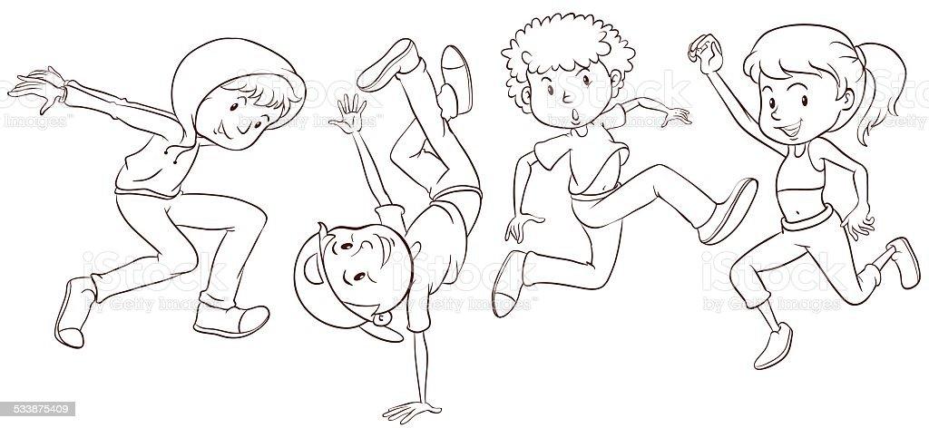 Ромашками, картинки я танцую для детей по этапам