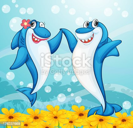 istock Dancing whale fishes 176237669