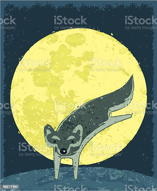 Dancing Wolf Stock Illustration - Download Image Now