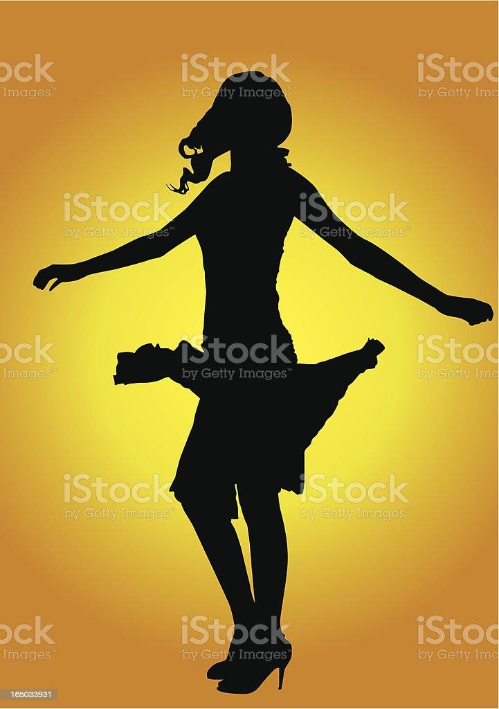 Dancing woman - vector royalty-free stock vector art
