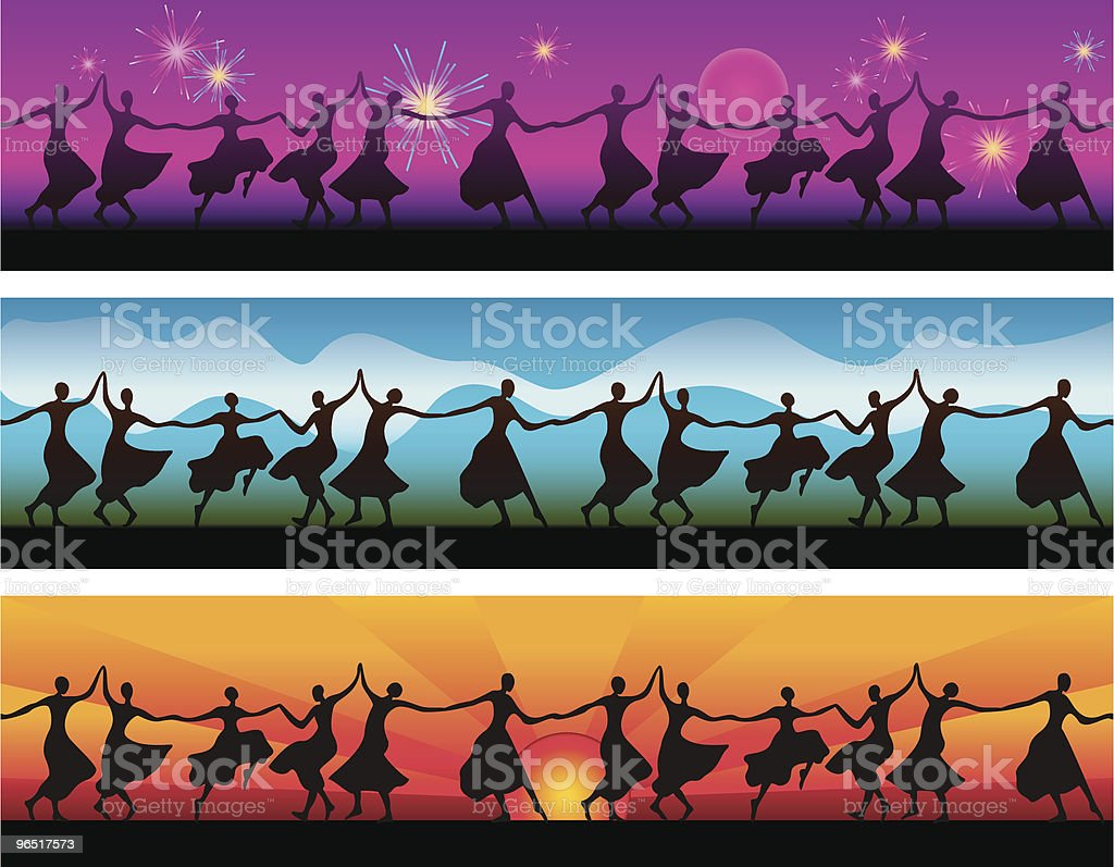 Dancing Women Banners royalty-free dancing women banners stock vector art & more images of adult