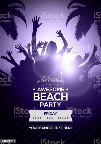 Dancing young people silhouettes on summer beach party flyer template vector id938275444?b=1&k=6&m=938275444&s=612x612&h=36nalbm3aoxzqnby yo5nyasiz3pyxqny92wch0vqmo=