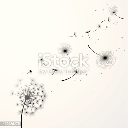 Vector illustration of Dandelion Background are done by single gradient tone only. Change color is easy, simply select the whole graphic and change the gradient's color.