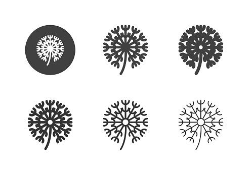 Dandelion Flower Icons - Multi Series