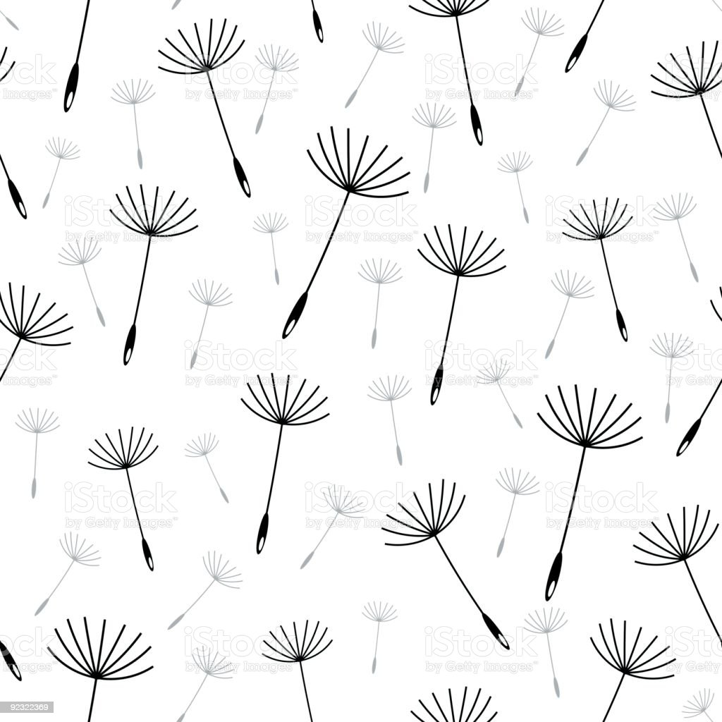 Dandelion seed seamless vector wallpaper vector art illustration