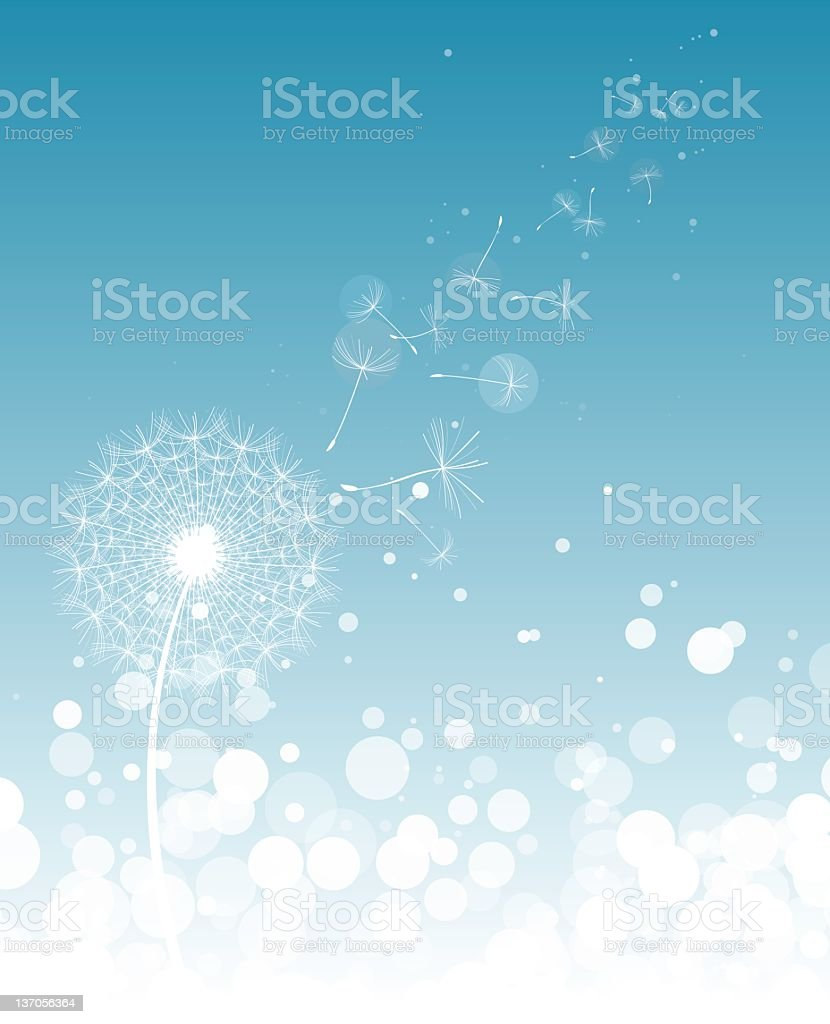 Dandelion seed royalty-free stock vector art